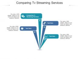 Comparing Tv Streaming Services Ppt Powerpoint Presentation Ideas Structure Cpb
