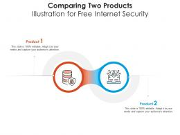Comparing Two Products Illustration For Free Internet Security Infographic Template