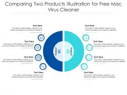 Comparing Two Products Illustration For Free Mac Virus Cleaner Infographic Template