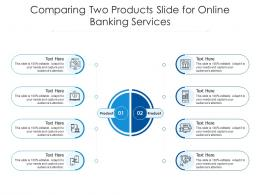 Comparing Two Products Slide For Online Banking Services Infographic Template