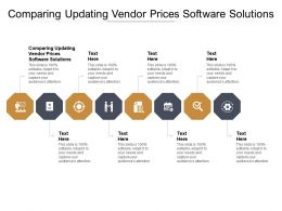 Comparing Updating Vendor Prices Software Solutions Ppt Outline Graphics Tutorials Cpb