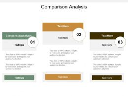 Comparison Analysis Ppt Powerpoint Presentation Pictures Templates Cpb