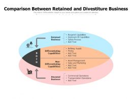 Comparison Between Retained And Divestiture Business
