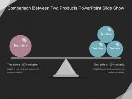 Comparison Between Two Products Powerpoint Slide Show