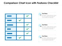 Comparison Chart Icon With Features Checklist