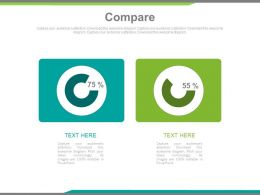 Comparison Charts With Percentage Powerpoint Slides