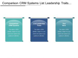 Comparison Crm Systems List Leadership Traits Ladders Marketing Cpb