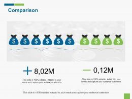 Comparison Currency Ppt Gallery Infographic Template