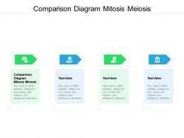 Comparison Diagram Mitosis Meiosis Ppt Powerpoint Presentation Infographics Diagrams Cpb