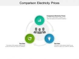 Comparison Electricity Prices Ppt Powerpoint Presentation Portfolio Maker Cpb