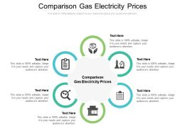 Comparison Gas Electricity Prices Ppt Powerpoint Presentation Pictures Images Cpb