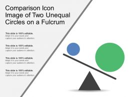 Comparison Icon Image Of Two Unequal Circles On A Fulcrum