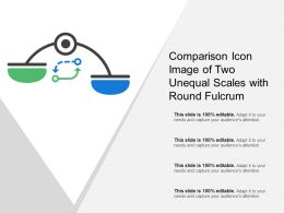 Comparison Icon Image Of Two Unequal Scales With Round Fulcrum