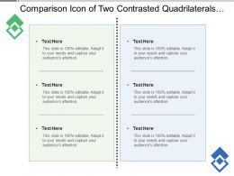 Comparison Icon Of Two Contrasted Quadrilaterals With Text Boxes