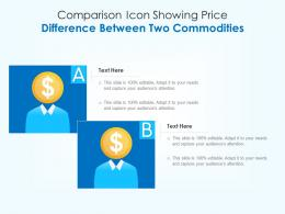 Comparison Icon Showing Price Difference Between Two Commodities