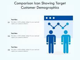 Comparison Icon Showing Target Customer Demographics