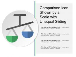 Comparison Icon Shown By A Scale With Unequal Sliding