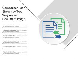 Comparison Icon Shown By Two Way Arrow Document Image