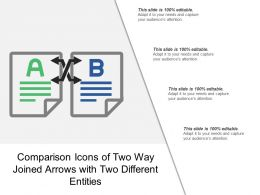 Comparison Icons Of Two Way Joined Arrows With Two Different Entities