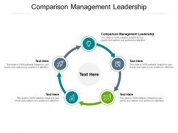 Comparison Management Leadership Ppt Powerpoint Presentation Pictures Shapes Cpb