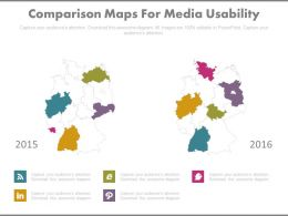 Comparison Maps For Social Media Usability Powerpoint Slides