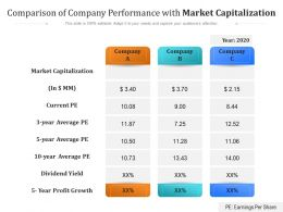 Comparison Of Company Performance With Market Capitalization