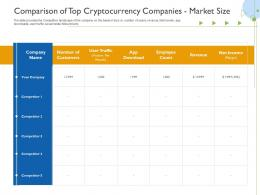Comparison Of Top Cryptocurrency Companies Market Size Raise Funds Initial Currency Offering Ppt Tips