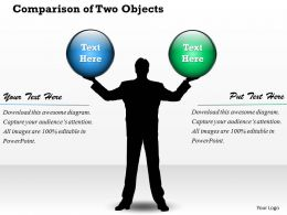 Comparison Of Two Objects PowerPoint Template Slide