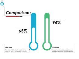 Comparison Percentage F742 Ppt Powerpoint Presentation Outline Outfit