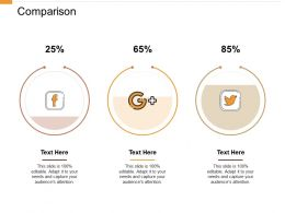 Comparison Percentage I350 Ppt Powerpoint Presentation Ideas Designs