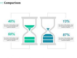 Comparison Percentage Marketing C399 Ppt Powerpoint Presentation Styles Designs