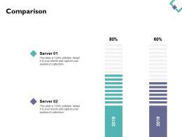 Comparison Percentage Ppt Powerpoint Presentation File Master Slide