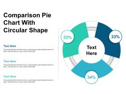 Comparison Pie Chart With Circular Shape