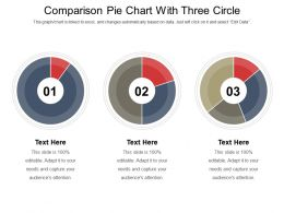 Comparison Pie Chart With Three Circle