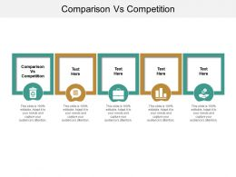 Comparison Vs Competition Ppt Powerpoint Presentation Icon Background Images Cpb