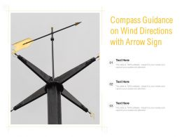 Compass Guidance On Wind Directions With Arrow Sign