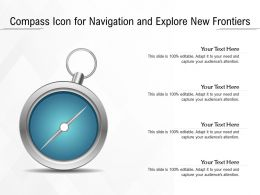 Compass Icon For Navigation And Explore New Frontiers