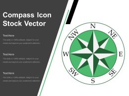 Compass Icon Stock Vector