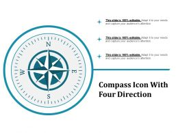 Compass Icon With Four Direction
