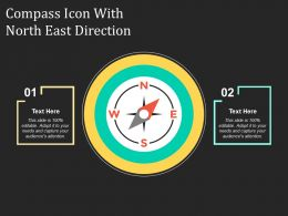 Compass Icon With North East Direction