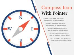 Compass Icon With Pointer