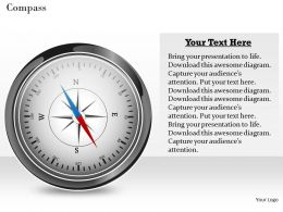 Compass Powerpoint Template Slide