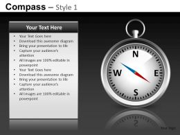 Compass Style 1 Powerpoint Presentation Slides db