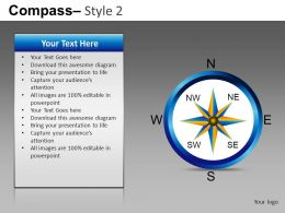 Compass Style 2 Powerpoint Presentation Slides db