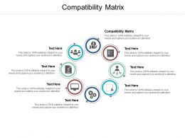 Compatibility Matrix Ppt Powerpoint Presentation Icon Background Image Cpb