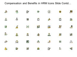 Compensation And Benefits In HRM Icons Slide Contd Team Ppt Slides