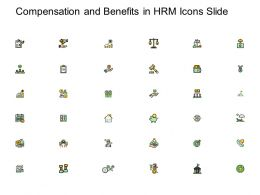 Compensation And Benefits In HRM Icons Slide Goal Ppt Powerpoint Presentation Icon