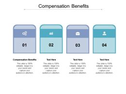 Compensation Benefits Ppt Powerpoint Presentation Professional Infographic Template Cpb