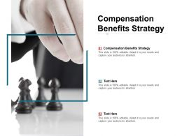 Compensation Benefits Strategy Ppt Powerpoint Presentation Layouts Icons Cpb