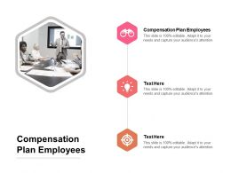 Compensation Plan Employees Ppt Powerpoint Presentation Gallery Model Cpb